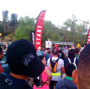Anxious runners at the Start Line
