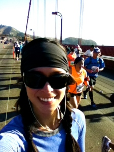 I'm running on the Golden Gate bridge!!!