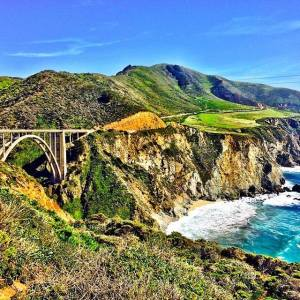 Looking back up towards Bixby Bridge
