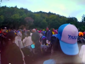 Backwards Nuun hat, ready at the start line!